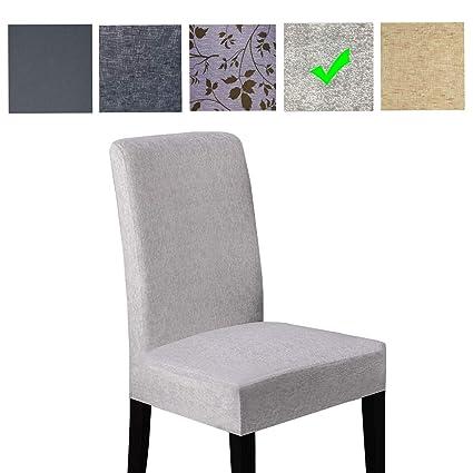 Easy-Room Fundas para sillas de Comedor de fácil habitación, Fundas extraíbles para Silla, Fundas Lavables (2 Unidades)