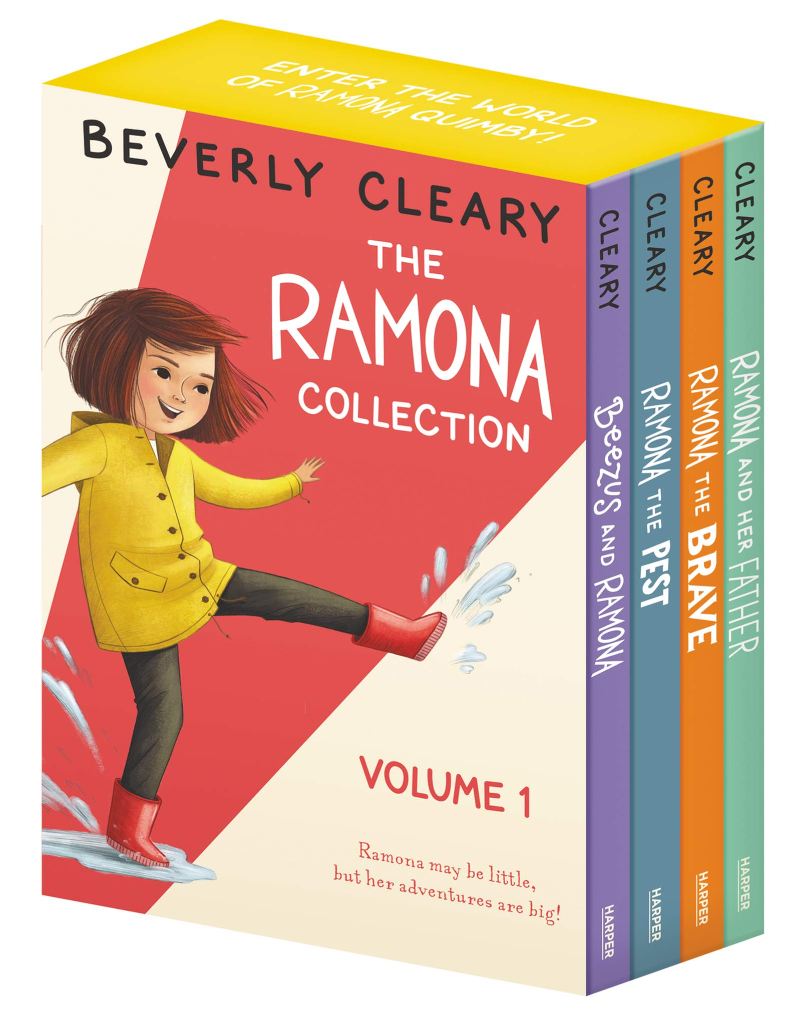 The Ramona Assortment, Vol. 1: Beezus and Ramona / Ramona the Pest / Ramona the Courageous / Ramona and Her Father [4 Book Box set]