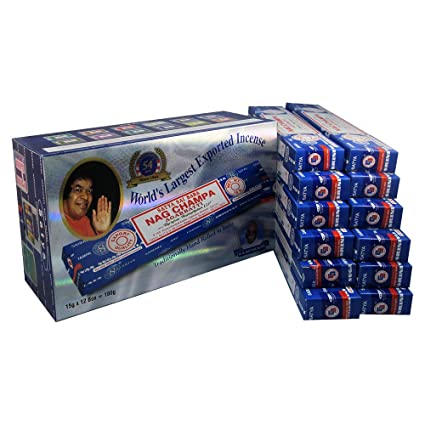 Sai Satya De Encens Colle Boîte Nag 12 Champa Pk0wXn8O
