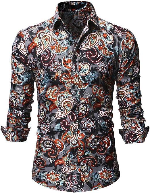 Mens Casual Shirt Long Sleeve Buttons V Neck Tops Plain Ethnic Tee Shirt Plus
