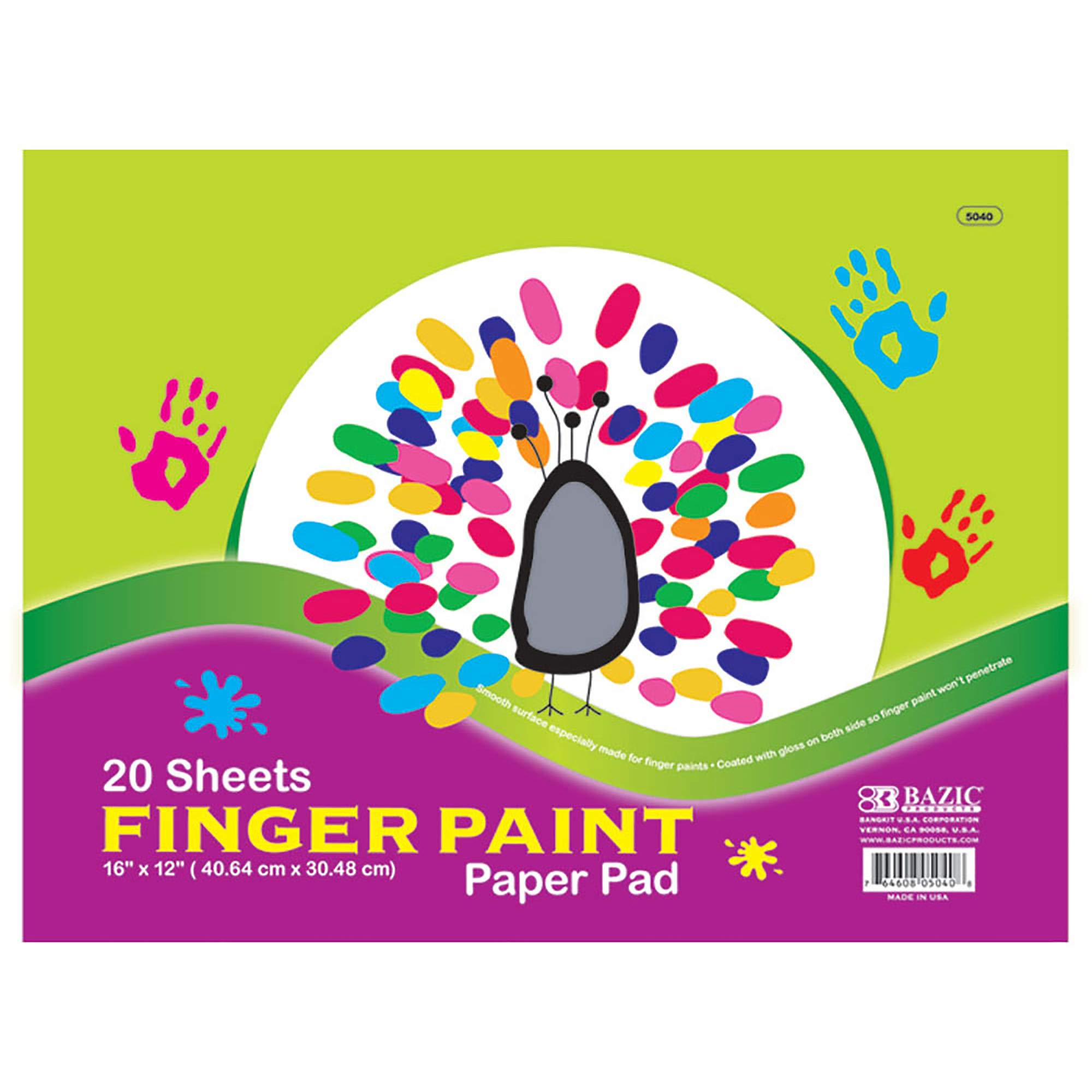 BAZIC 20 Ct. 16'' X 12'' Finger Paint Paper Pad (Case of 48) by B BAZIC PRODUCTS