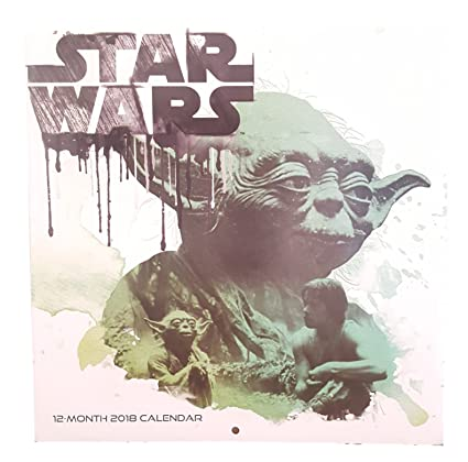 amazon com 2018 character wall calenders 12 months star wars