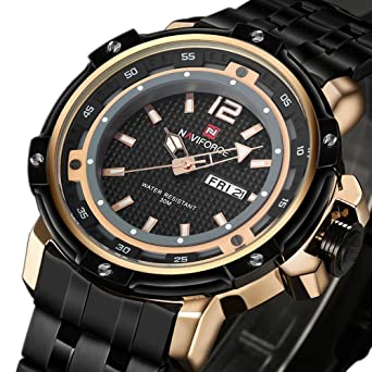 amazon com tonnier military sports man watches date week tonnier military sports man watches date week stainless steel mens watches rose gold