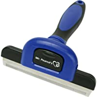 Mr. Peanut's Pet Grooming Deshedding Tool For Long and Short Hair Grooming of Dogs, Horses, Bunnies and Some Agreeable Cats, Pet Massage and Bathing Brush & Comb (Darken Blue)