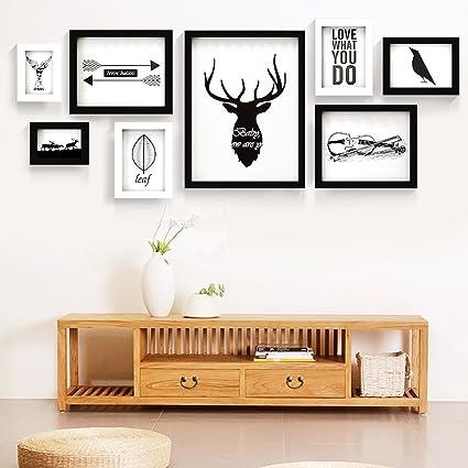 Animal and Birds Black and White Art Large Wood Photo Frame Set of 8 ...