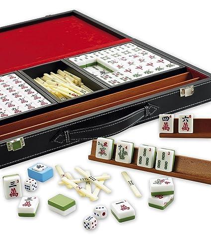 Gibsons G165 Mahjong En Caja De Piel Sintetica Amazon Es