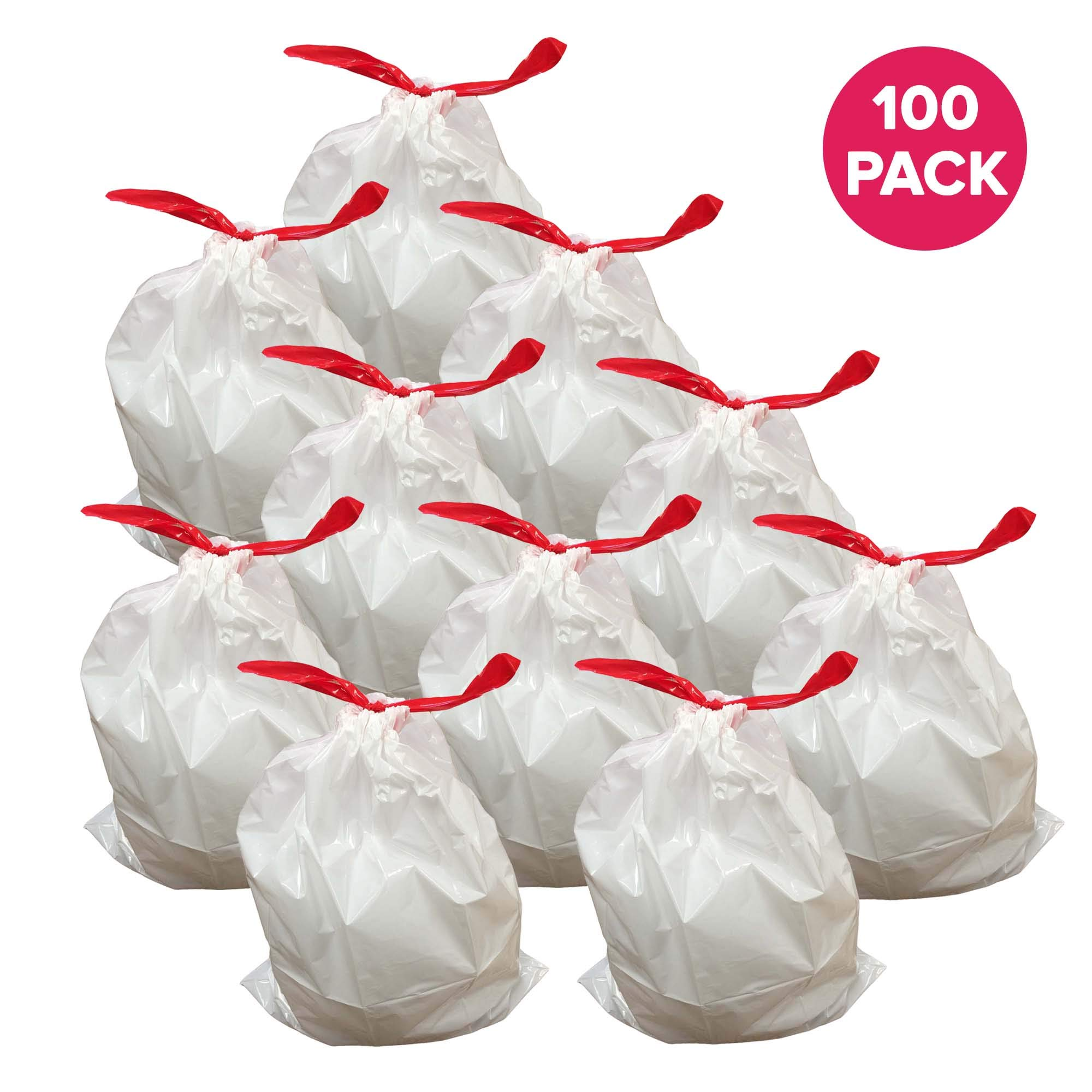 Think Crucial 100PK Durable Garbage Bags Fit simplehuman« ?Size ?M??, 45L / 12 Gallon by Think Crucial