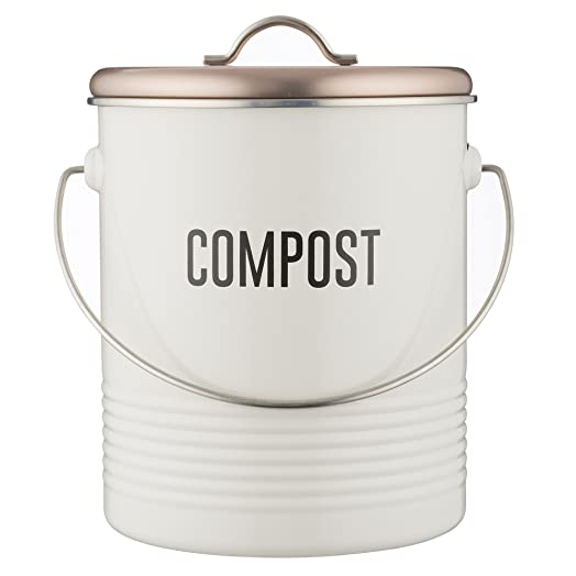 copper u0026 white compost caddy typhoon compost bin for food composting