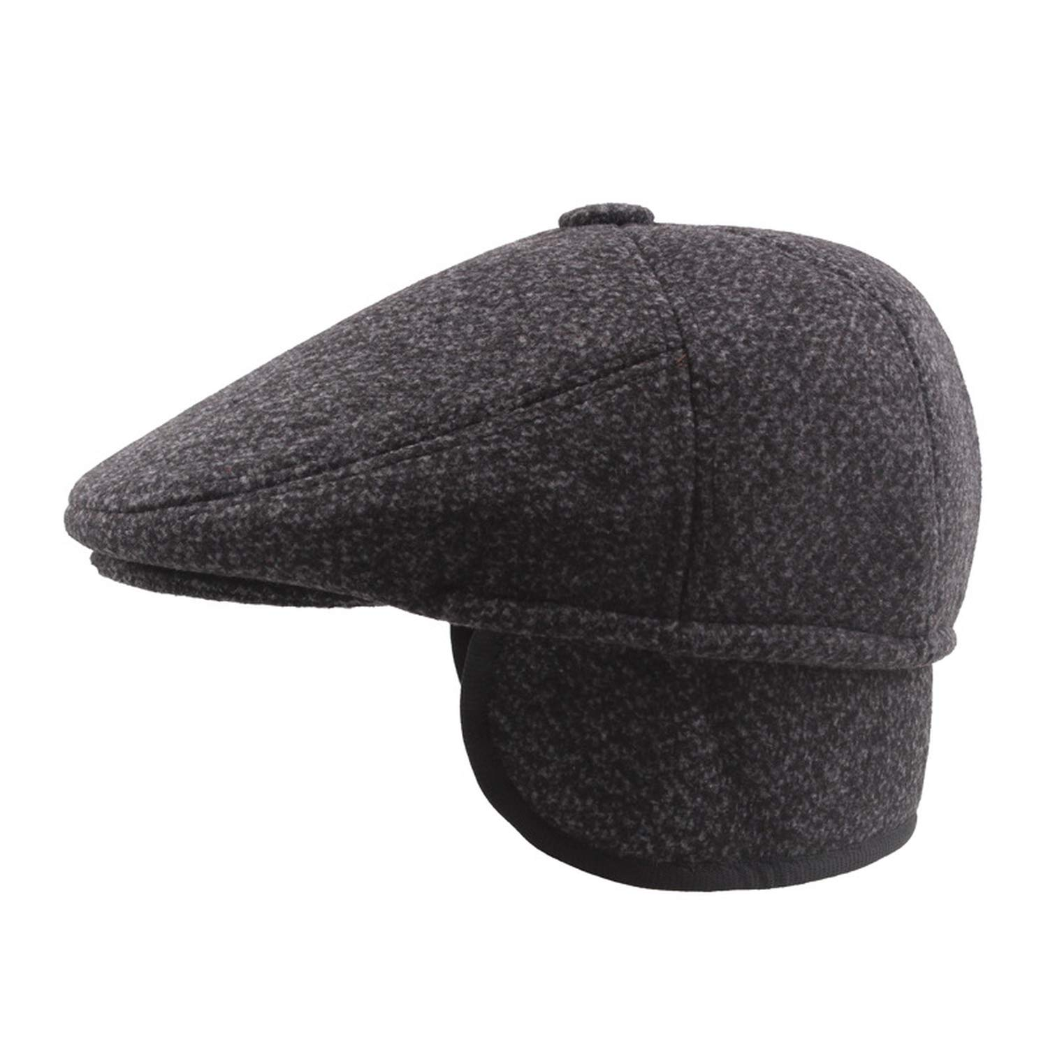 ANDERDM Autumn Newsboy Caps Mens Middle Aged Old Age Beret Cabbie Ivy Flat Nylon Dad Hats for Men Caps