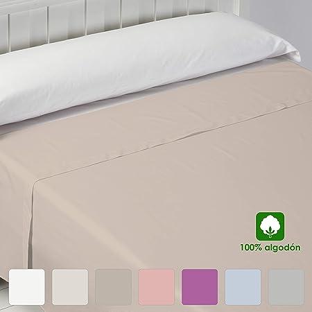 Barceló Hogar 03060020615 Sábana encimera, basic, algodón 100%, beige, 150 cm: Amazon.es: Hogar