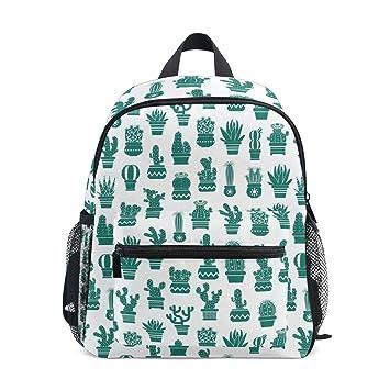 Amazon.com: Mochila de viaje para niños, diseño de cactus al ...