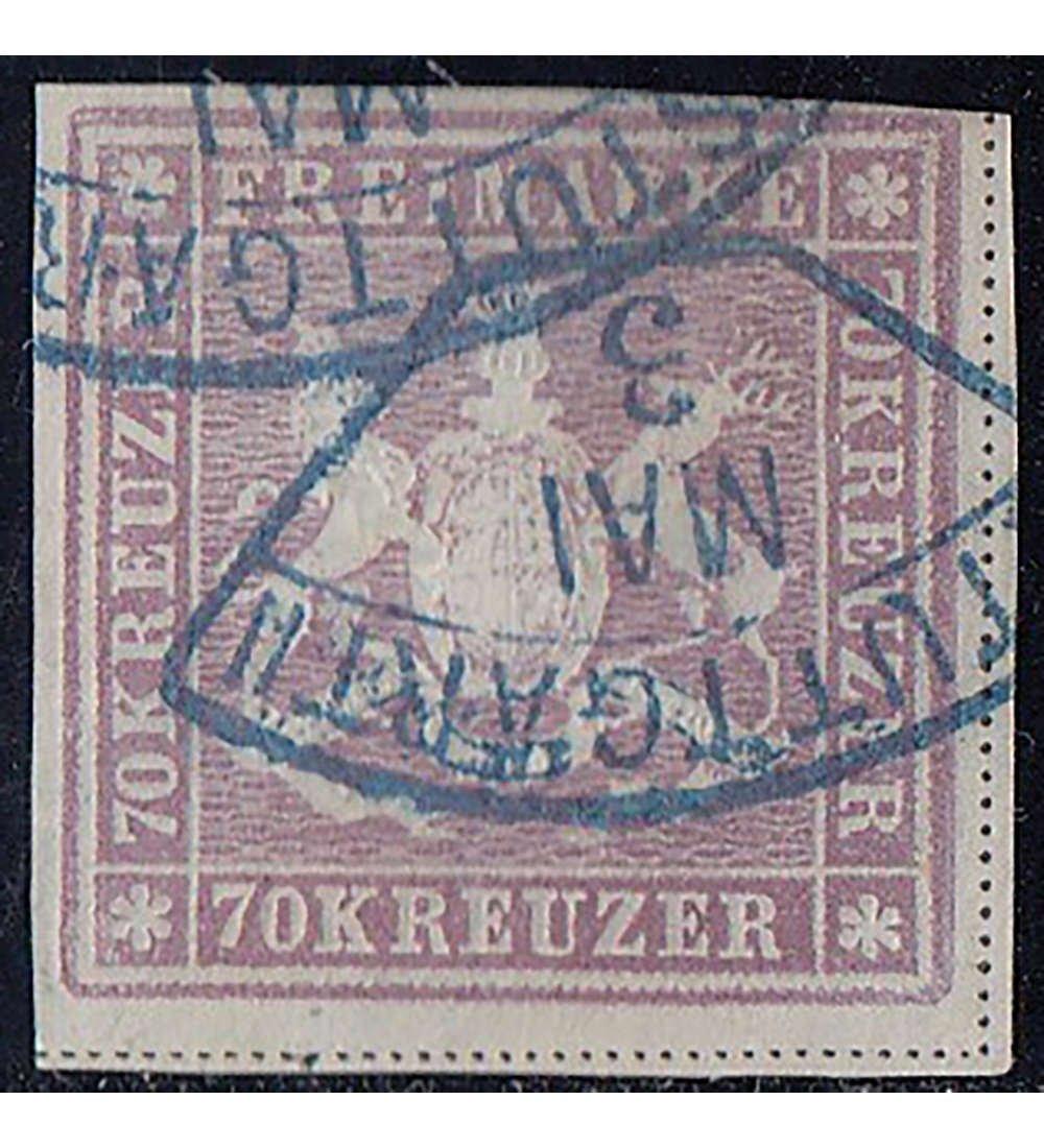 Goldhahn Württemberg Nr. 42 gestempelt geprüft und signiert Briefmarken für Sammler