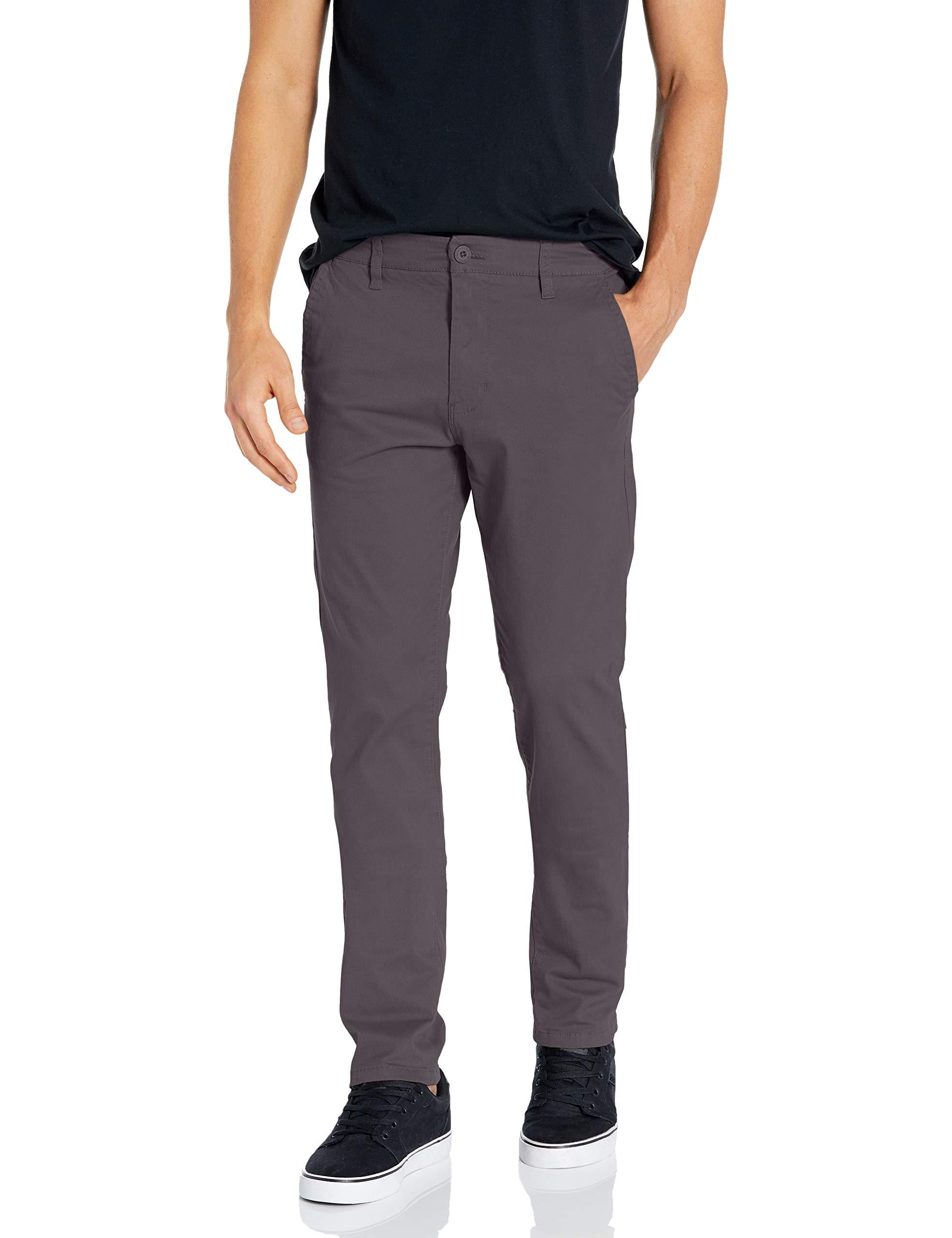 Southpole Men's Flex Stretch Basic Long Chino Pants