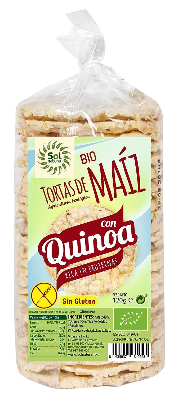 Sol Natural Tortas de Maíz con Quinoa, sin Gluten - Paquete ...