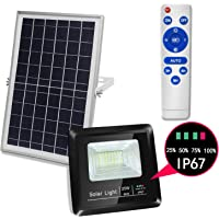 KOUKA Solar Flood Lights Outdoor Remote for Garden Yard Pathway
