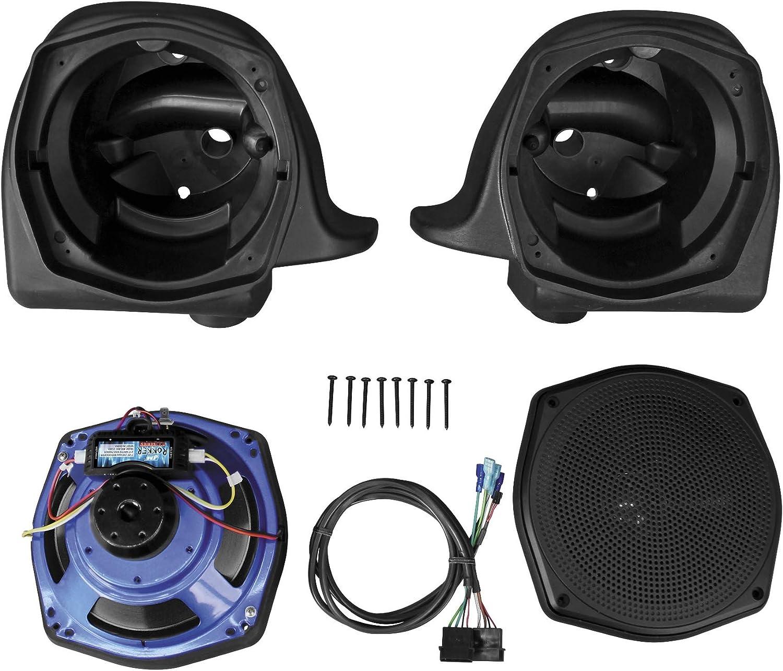 J&M Rokker Series XT Lower Fairing Speaker Kit for Harley Davidson 2006-13 Road}