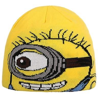e14fca8863ea Chapeaushop Bonnet pour Enfant Minions en Tricot l hiver (Taille Unique -  Jaune)
