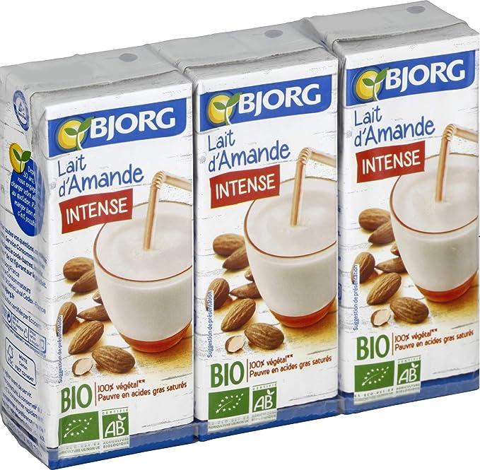 BJORG Leche De Almendras Intense Bio 3 X 20 6 Cllot: Amazon.es: Alimentación y bebidas