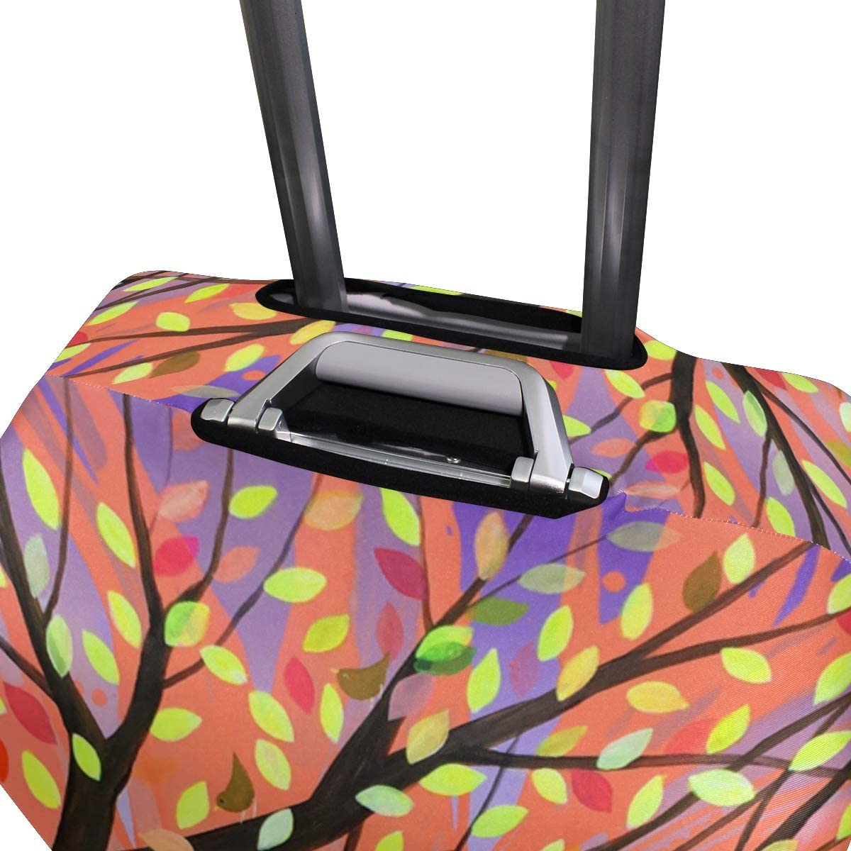 FOLPPLY Colorful Tree Of Life Luggage Cover Baggage Suitcase Travel Protector Fit for 18-32 Inch
