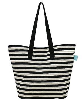 Sac à provisions classique pour les femmes, poche à glissière, bas de sac en cuir résistant, sac fourre-tout d'épaule pour les vacances, sac de plage pour voyage