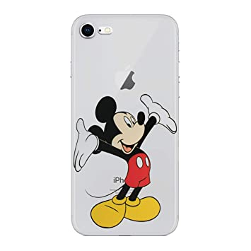 0b4d98dc623 iPhone 7 Funda de Silicona de Dibujos Animados/Cubierta de Gel para Apple  iPhone 7 / Protector de Pantalla y Paño/iCHOOSE / Mickey Mouse: Amazon.es:  ...
