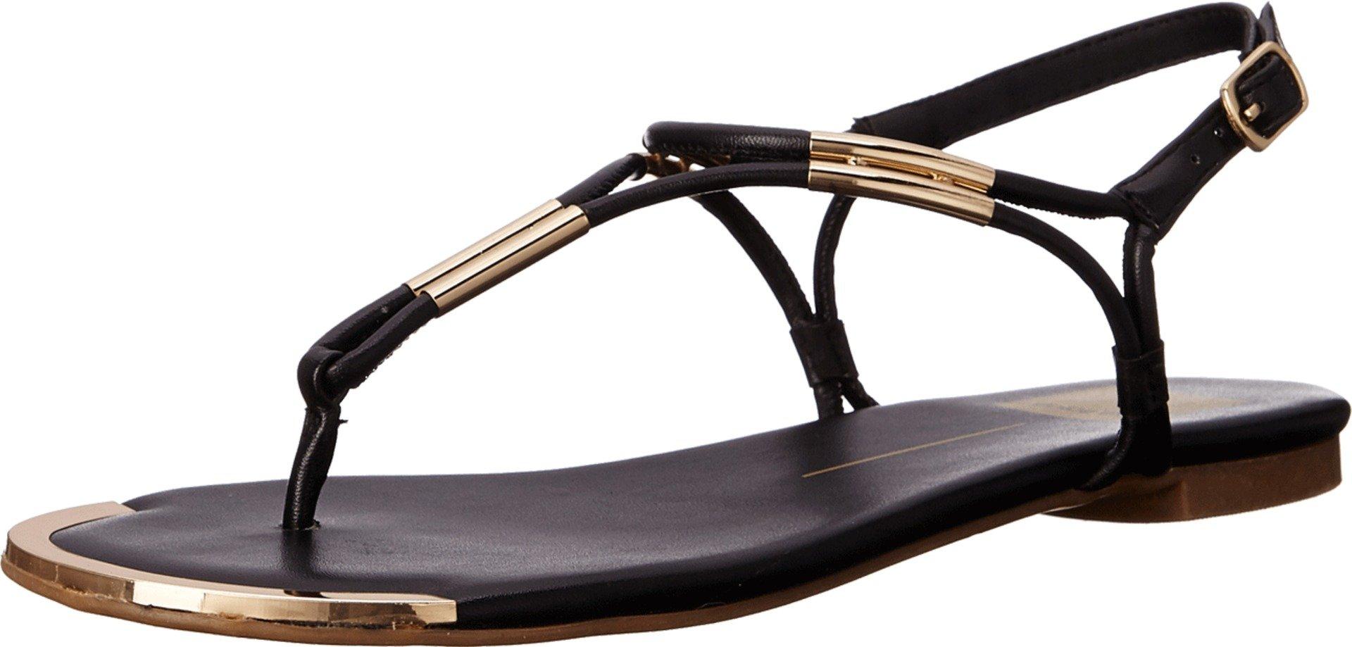 Dolce Vita Women's Marly Flat Sandal,Black,8.5 B(M) US by Dolce Vita