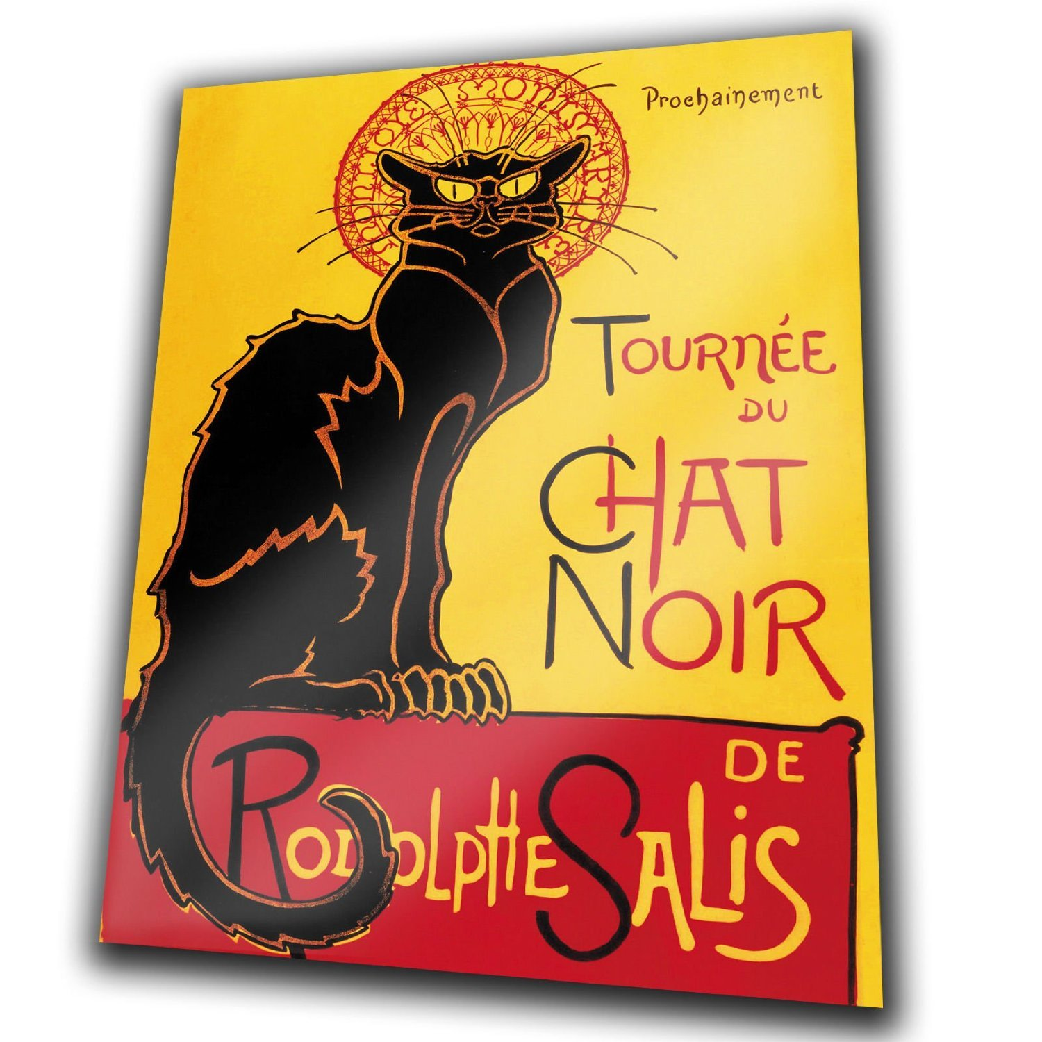 Le Chat Noir The Black Cat French Vintage Style METAL Wall Plaque ...