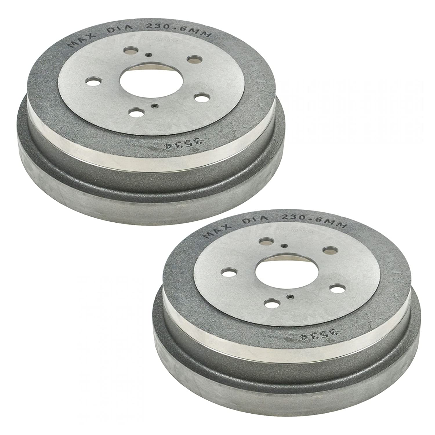 Rear Brakes Brake Drums Pair Set of 2 for Toyota Camry Solara AM Autoparts