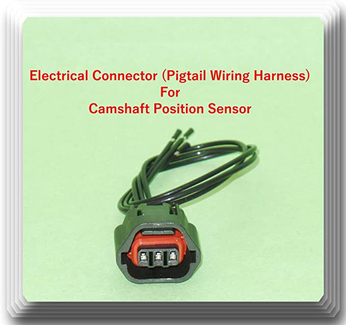 Crankshaft Position Sensor compatible with Mitsubishi Montero 01-06 3 Male Blade Terminals Female Connector