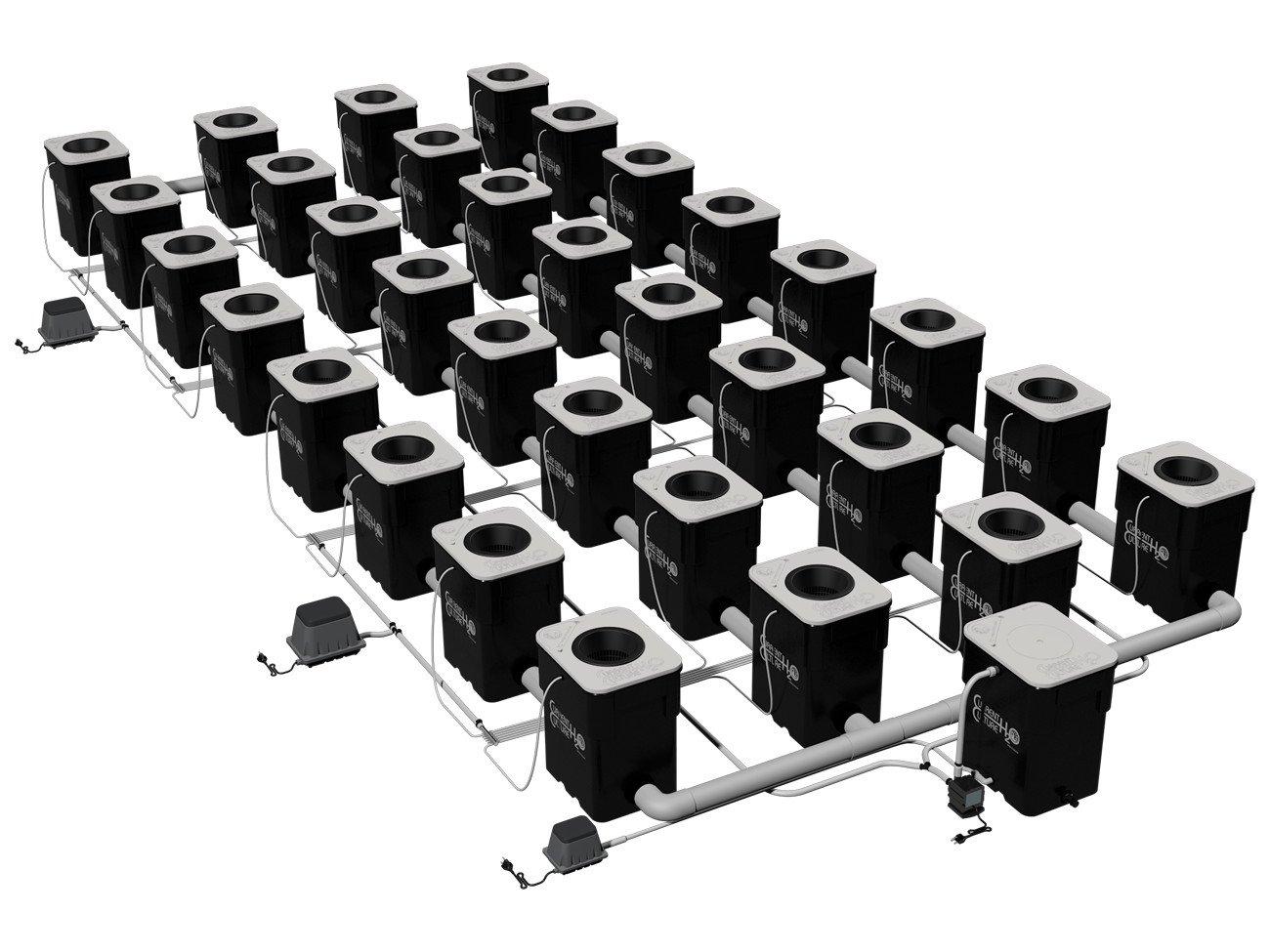 Under Current Double Barrel 32 XL13 UCDB32XL13 - 32 site - 8'' net pots - 13 gallon grow modules - 605 watt - 120V
