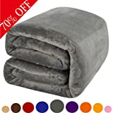 Shilucheng Fleece Soft Warm Fuzzy Plush Lightweight Queen(90-Inch-by-90-Inch) Couch Bed Blanket, Grey