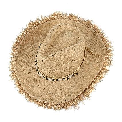 9d43fc17c Amazon.com: LOVEHATS Women Vintage Raffia Straw Hats Floppy Wide ...