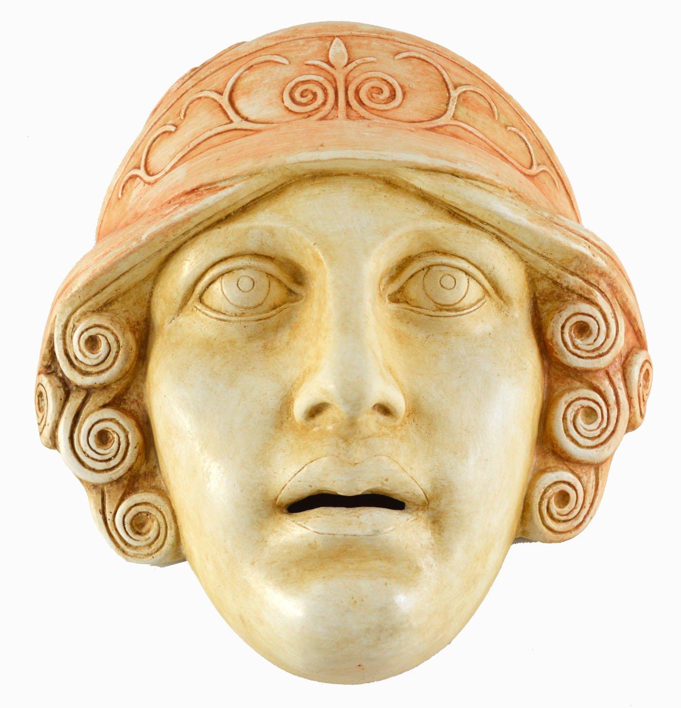 Diosa Athena máscara - Teatro griego de la Antigüedad - Pantalla de Atenas: Amazon.es: Hogar