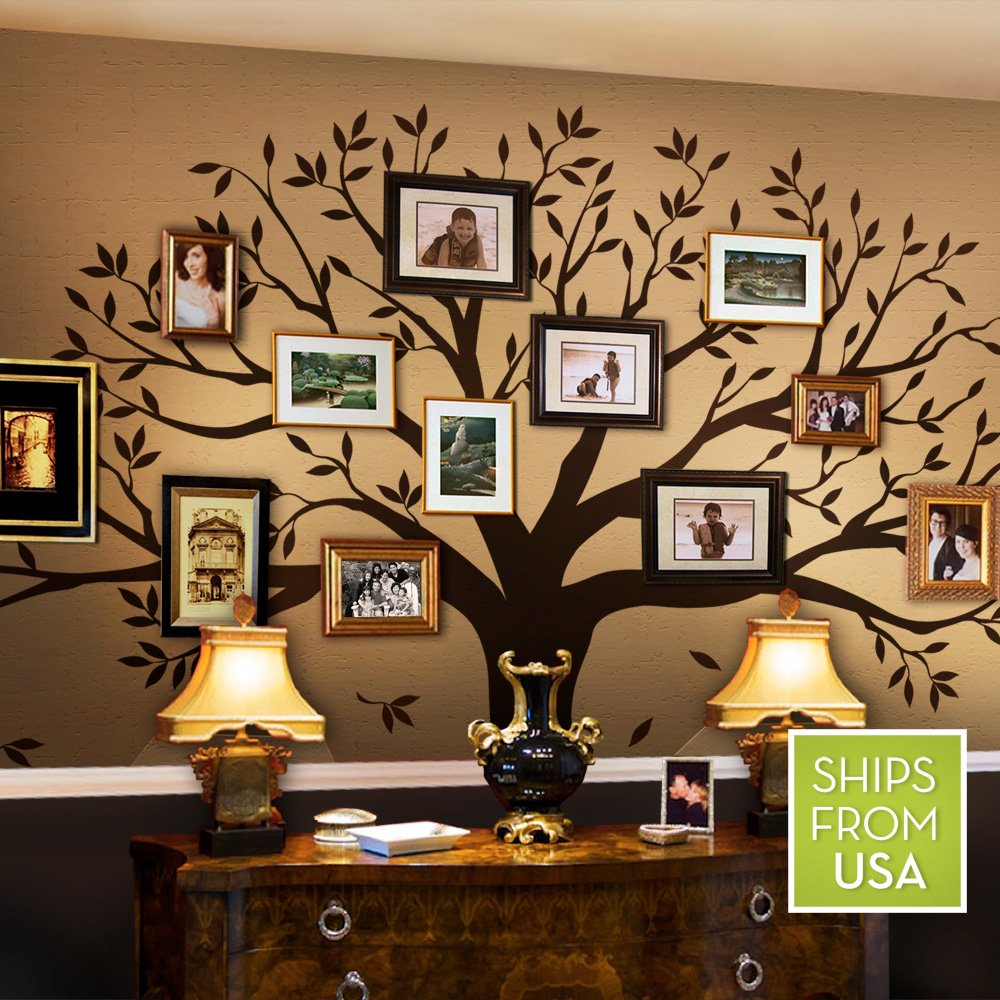 Family tree wall decal by simple shapes chestnut brown standard family tree wall decal by simple shapes chestnut brown standard size 107 x 90 inch wall decor stickers amazon amipublicfo Image collections