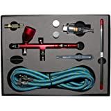 ABEST New Professional 0.2mm\0.3mm\0.5mm Dual Action Airbrush Spray Paint Gun Kit Complete Set for General-Purpose Art-and-Craft Projects Model-Railroad Detailing R/C Car Bodies Plastic Kits