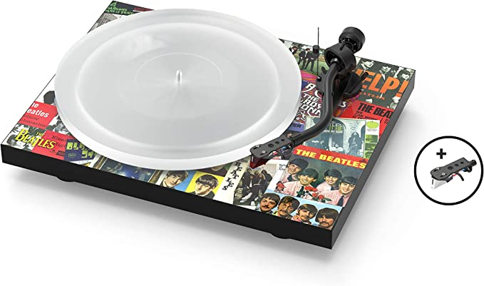 Pro-Ject The Beatles Singles Turntable, Limited Edition Turntable with Electronic Speed Change and 2 Equipped SME Headshells