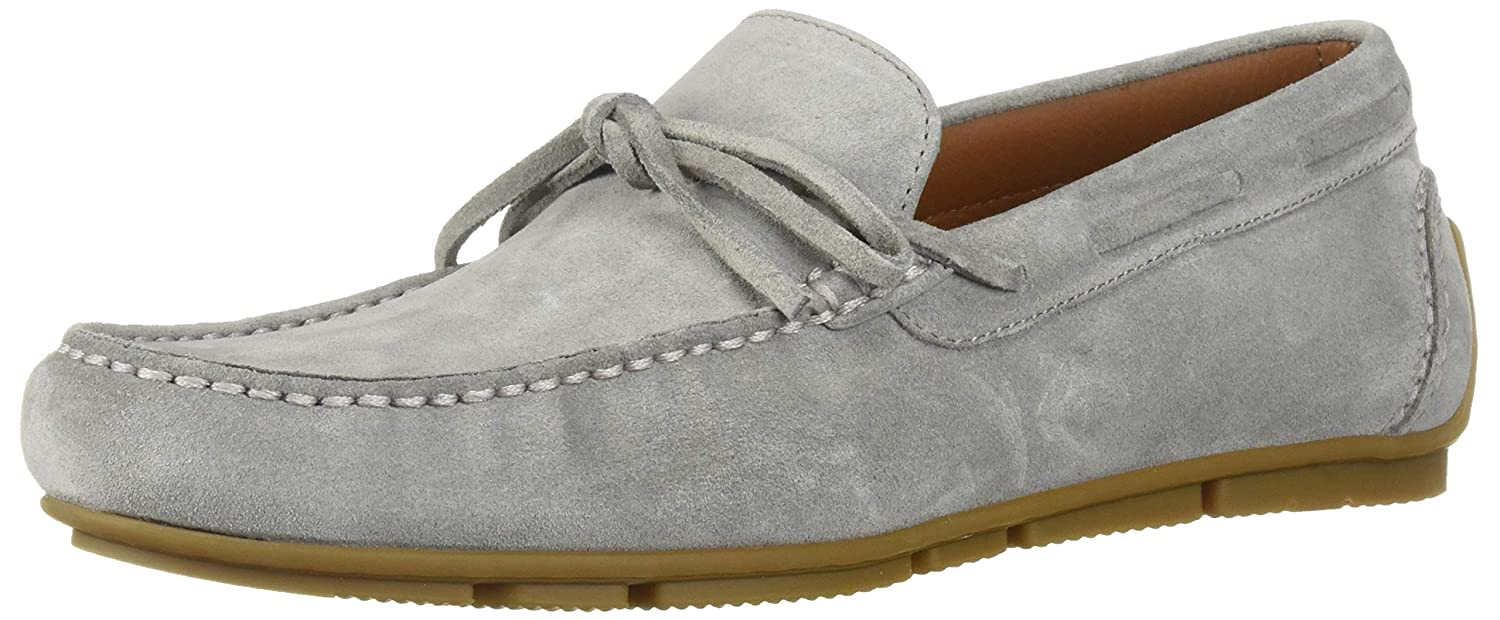Light Grey Aquatalia Mens Brian Suede Driving Style Loafer