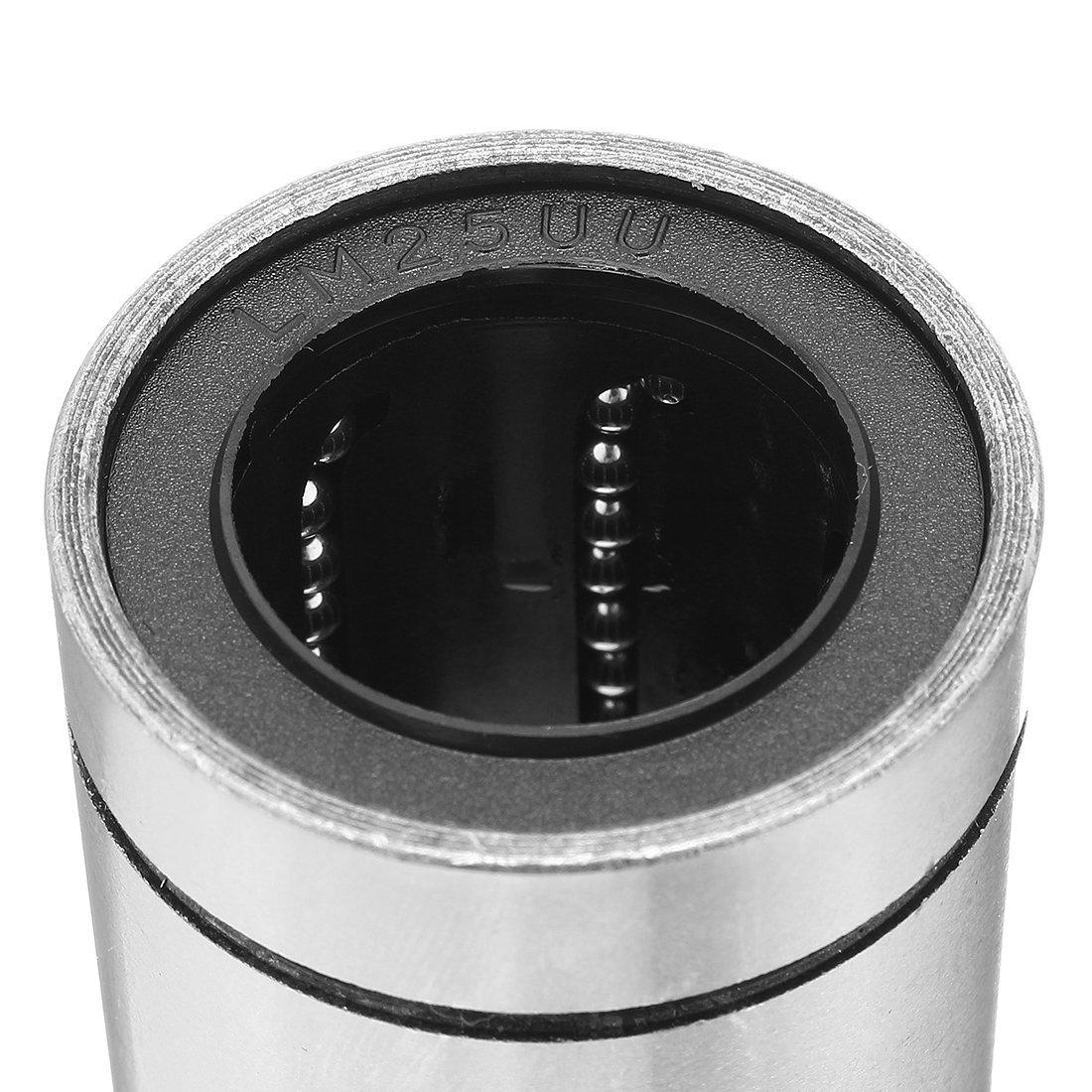 SNOWINSPRING LM25UU 25mm x 40mm x 59mm Doppelseite Gummidichtung Linearbewegung Kugel Lagerbuchse