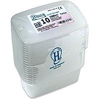 HDIUK Boîtes et couvercles en plastique qualité alimentaire compatible micro-ondes/congélateur. Préparez à l'avance des chilis, pâtes, riz, currys, pommes de terre et bien plus encore