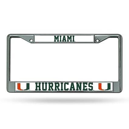 Amazon.com : NCAA Miami Hurricanes Chrome Plate Frame : Automotive ...
