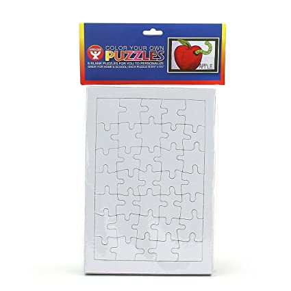 Amazon.com: Blank White Puzzle with Frame, Matte, Rectangle, 35 ...
