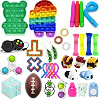 35 Pcs Fidget Toys Set, Sensory Fidget Toys Pack, Popular Fidget Toys Set Sensory Fidget Toys for Kids Adults,Stress…