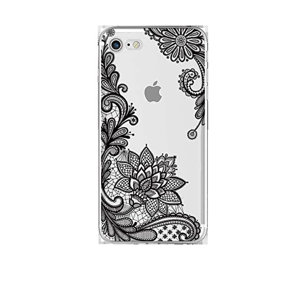 Amazon.com: Frozac Lace Mandala Case for iPhone X 8 7 6 6S ...