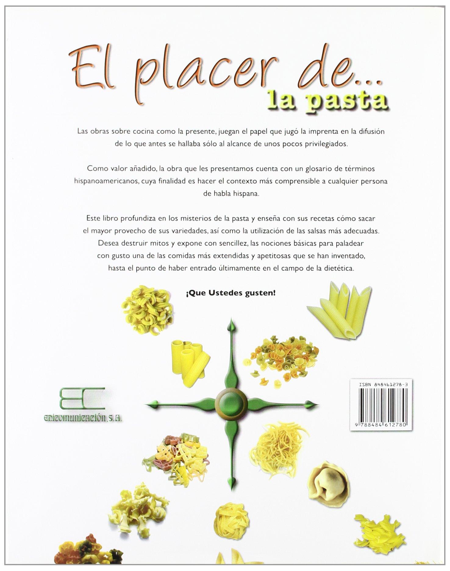 Placer de la pasta, el (El Placer De ...): Amazon.es: Mariela Samo: Libros