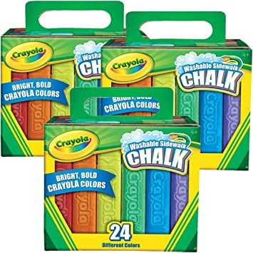 Crayola Washable Sidewalk Chalk In Assorted Colors 24 Count