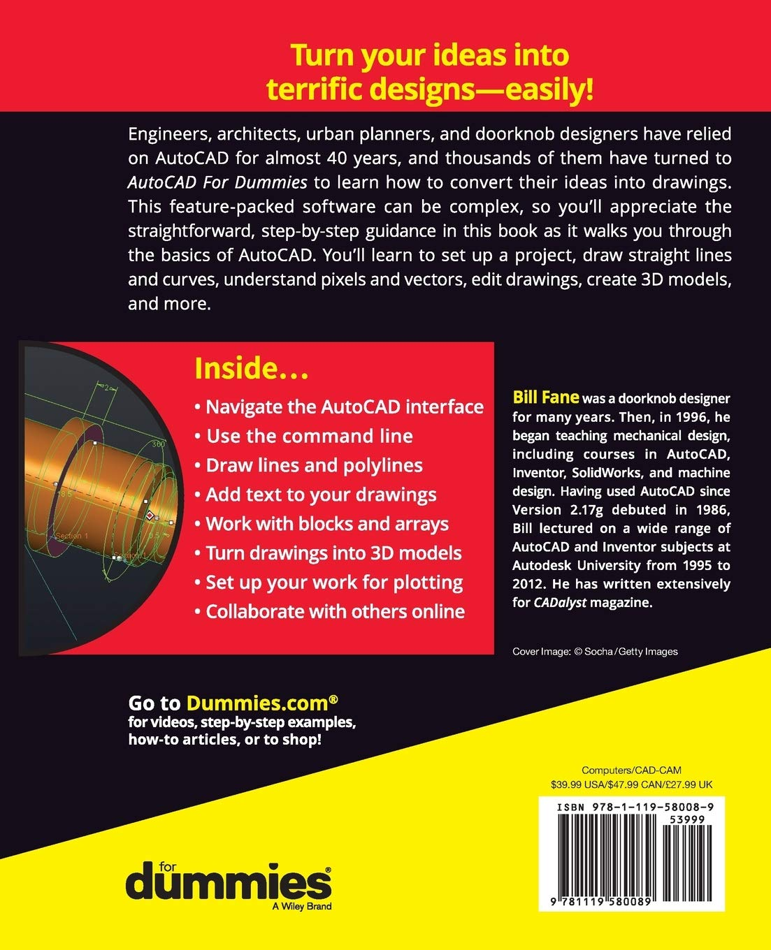 AutoCAD For Dummies, 18th Edition: Amazon.es: Fane, Bill: Libros en idiomas extranjeros