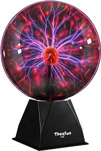 Plasma Ball, Theefun 8inch Touch & Sound Sensitive Plasma Globe, Nebula Sphere Plasma Lamp Novelty Toy for Kids, Best Christmas Gifts/Decoration