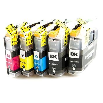 ASTA Cartuchos de tinta LC223 Paquete de 5 (2 Negro 1 Cian ...