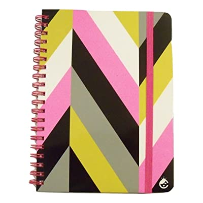 Carolina Pad Studio C College Spiral Notebook with Elastic Closure, Fashionista (Multicolored Chevrons, 5 Inches x 7 Inches, 80 Sheets, 160 Pages): Toys & Games