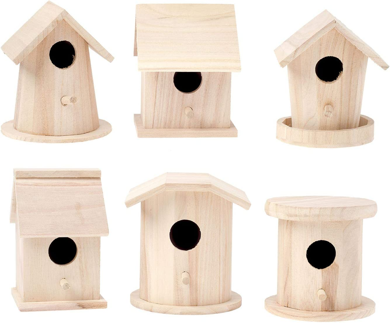 10 Bird Houses Raw Brass Jewelry Parts Crafts Birdhouse